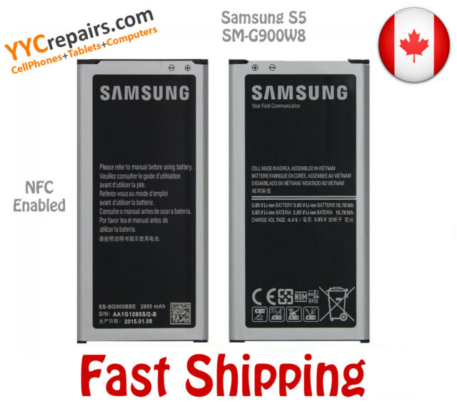 Original OEM Samsung Galaxy S5 Replacement Battery NFC EB-BG900BBU 2800mAh G900W