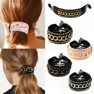 Women-Ponytail-Hold-Clamp-Hair-Clips-Large-Hairpins-Ties-Banana-Crabs-Claws