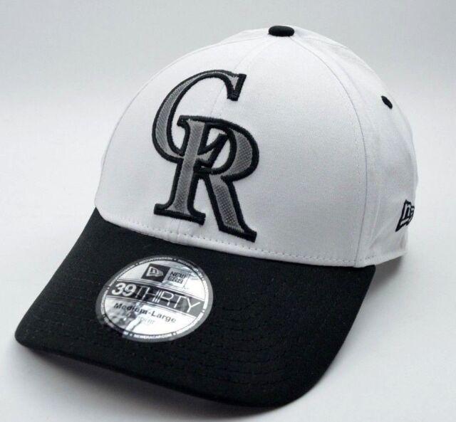 half off 02ebc 776f8 Colorado Rockies New Era 39Thirty MLB Baseball Pineapple Cap Hat Size M L