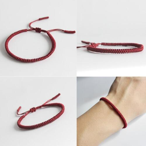 Glücks- Knoten- Armband Tibet 3er Set Lucky Knot Bracelet von Mönchen gekn