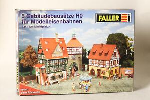 Faller-H0-5-Gebaeudebausaetze-fuer-Modelleisenbahnen-Am-Marktplatz-OVP-158103-17