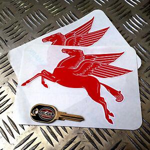 pair-of-die-cut-Mobil-Pegasus-decals-175mm-x-125mm-hotrod-vw-car-stickers