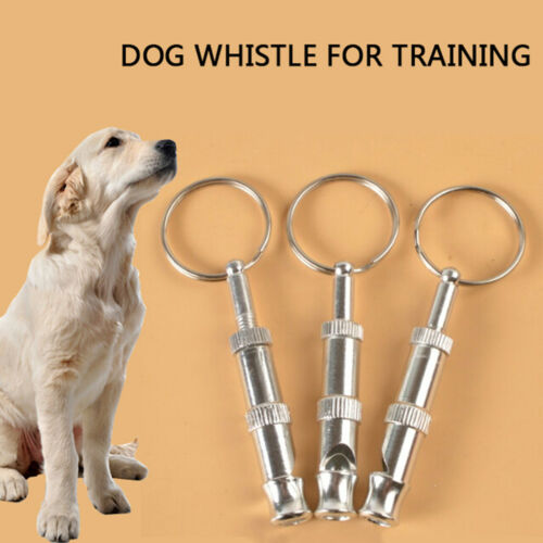 1 pcs Silver and red ultrasonic sound whistle for dog training HK
