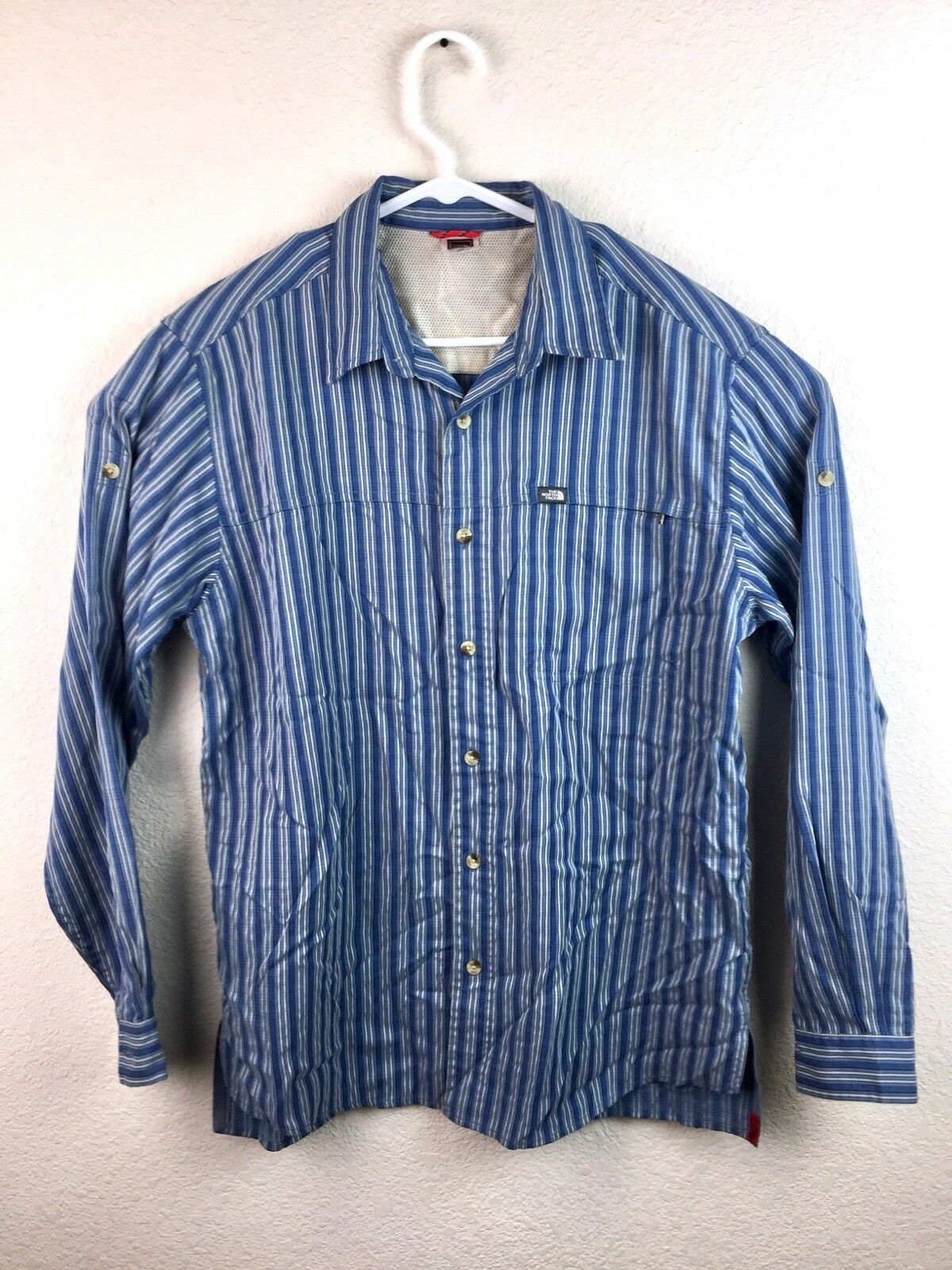 1883a39bf The North Face Men's bluee Long Sleeve Button Up Shirt Size Medium ...