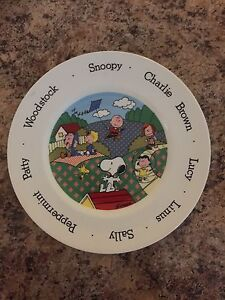 Peanuts-Collector-Plate-Made-In-England-By-Johnson-Brothers