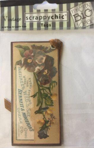 OPERA Scrappy Chic Vintage Tag 1pc MAMBI•Victorian•Steampunk •Faded•Florals•••