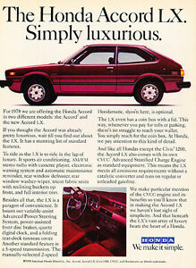Classic Vintage Advertisement Ad A68-B 1984 Honda Accord testimonials