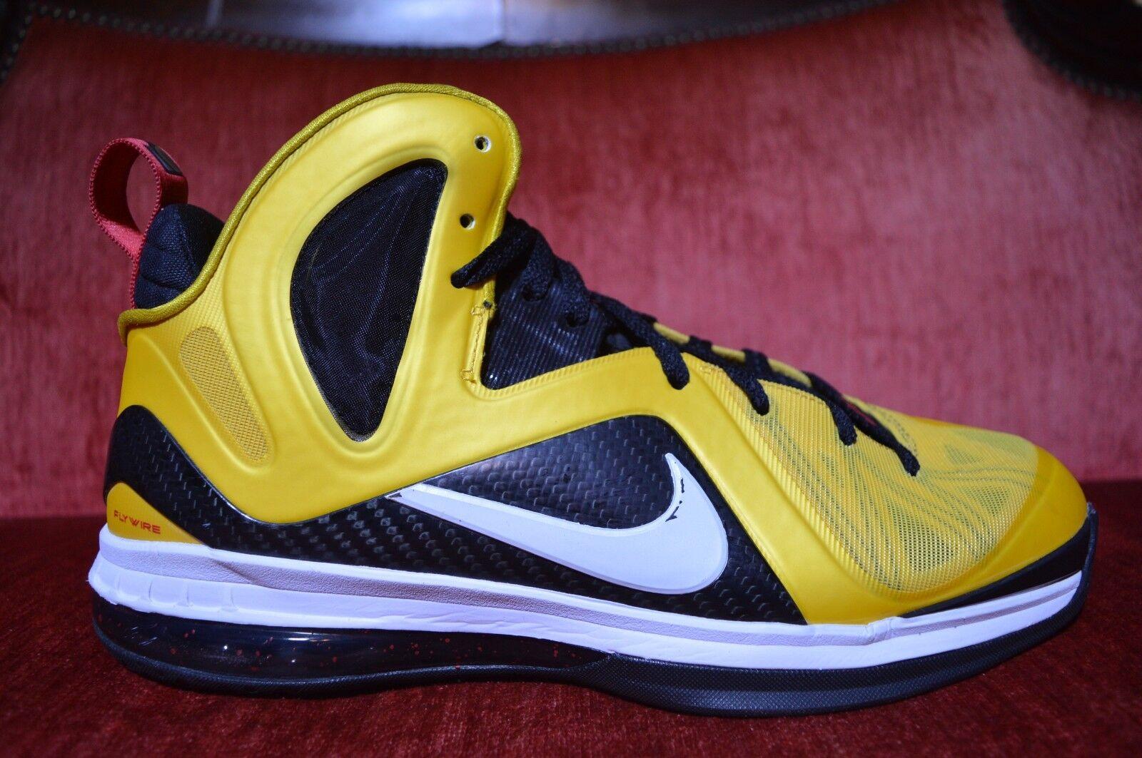 Nike Lebron IX 9 P.S Elite Varsity Maize/White-Nero-Red Taxi 516958-700 Size 11