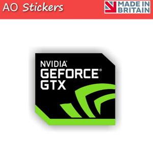 2 5 10 20 nvidia geforce gtx logo vinyl label sticker