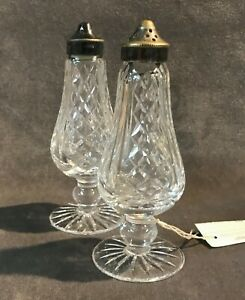 Waterford Irish Crystal Footed Salt Pepper Shaker Set Ebay