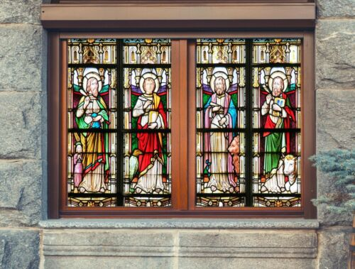 Details about  /3D Palace God Beast A543 Window Film Print Sticker Cling Stained Glass UV Amy