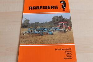 144503 Habicht Reiher Elster Merlin Prospekt 04/1985 Rabewerk Scheibenegge