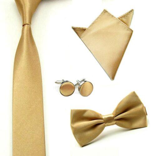 Mens Butterfly Cufflinks Handkerchief Wedding Necktie Bowties Party Bow Ties Set