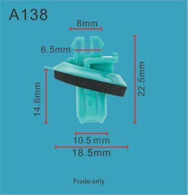 5x Toyota Prado 120 Wheelarch Plastic Moulding Trim Flare Panel Clip 75884-60010