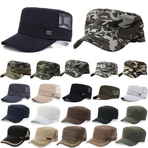 Army Hat Military Cadet Field Truckers Cap Men Women Outdoor ... 4f605cee65