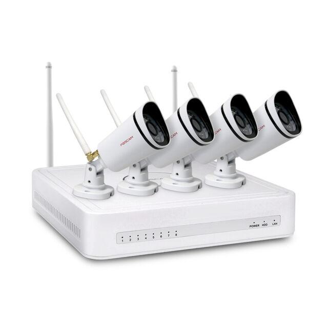 Foscam FN3104W-B4 720P WiFi IP security camera, 4-ch NVR,  1TB HHD(including)