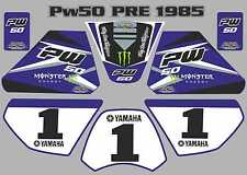 pw50 decals graphics yamaha pw 50 personal peewee laminated stickers old blue
