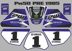 pw50 decals graphics yamaha pw 50 personal peewee laminated stickers ...