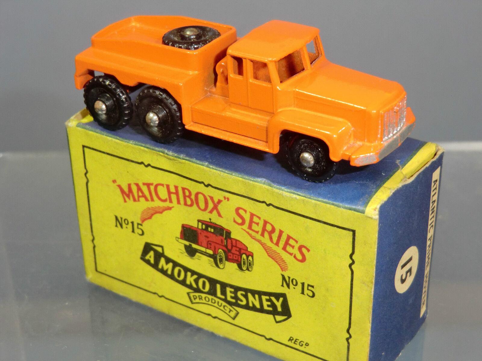 MATCHBOX Lesney Moko modello No.15b  rotinoff  SUPER Atlantic Trattore Nuovo di zecca con scatola