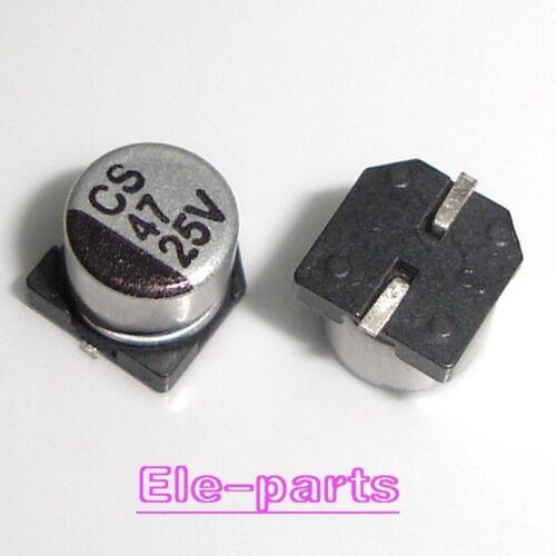 50 PCS 47UF//25V SMD Electrolytic Capacitor SMT 25V 47UF 6x5mm