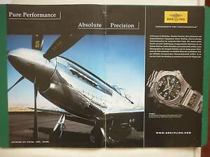 2007 pub montre breitling watches suisse aerospace p 51 mustang german ad ebay. Black Bedroom Furniture Sets. Home Design Ideas
