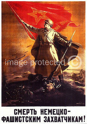 Victory Battlefield Vintage Russian WW2 Military 11x17 Poster