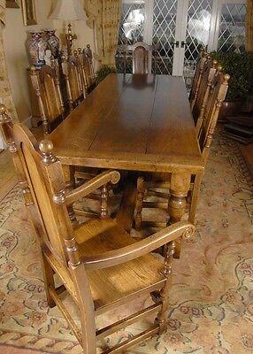 Offerte Tavoli E Sedie Da Cucina.Tavolo Da Pranzo Rovere Refettorio Set William E Mary Sedie Da