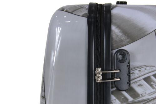 Extra Large Lightweight 4 Wheel Hard Shell PC London Print Luggage Suitcase PC04