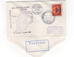 Nordkapp-Paquebot-24-Jul-1968-MS-Regina-Maris-Cover-Norway-Germany-973b