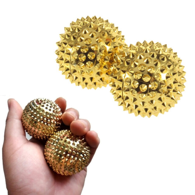 2X 3.2cm Hand Foot Pain Relief Spiky Self Massage Ball Muscle Release Relieve AU