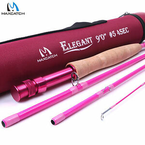 5wt women 39 s pink fly rod 9ft 4sec medium fast fly fishing for Ladies fishing rods