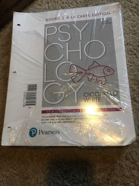 Psychology By Saundra K Ciccarelli And J Noland White 2016 Paperback
