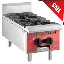 Restaurant 12 2 Burner Gas Range Hot Plate Countertop Commercial Propane