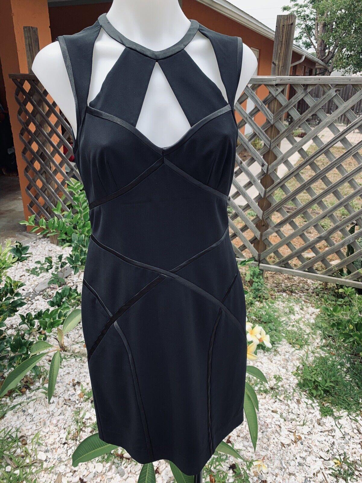 Nicole Miller Bandage schwarz dress Größe 4