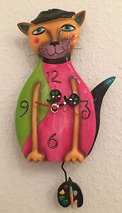 Design M. Allen P9026 Cat / Katze / PiCatso Clock / Wanduhr / Pendeluhr NEU - <span itemprop='availableAtOrFrom'>Berlin, Deutschland</span> - Design M. Allen P9026 Cat / Katze / PiCatso Clock / Wanduhr / Pendeluhr NEU - Berlin, Deutschland