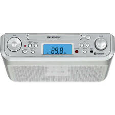 Sylvania Bluetooth Under-Cabinet CD Player Clock Radio with Aux in - SKCR2713