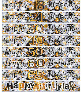 9ft-Sparkly-Holographic-Gold-Black-Silver-Foil-Banner-Party-Wall-Decorations