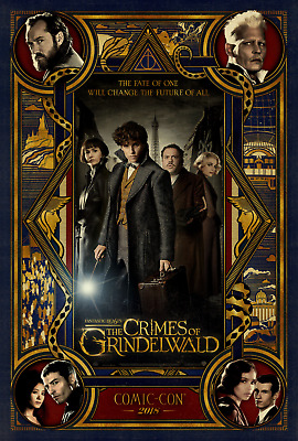 Fantastic Beasts The Crimes of Grindelwald Movie Poster 24x36 Newt Dumbledore 2