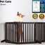 thumbnail 2 - Pet Gate Step Over Dog Gate Freestanding Assembly-Free Puppy Foldable Fence New