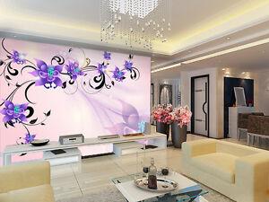 3D-Branche-Orchidee-Photo-Papier-Peint-en-Autocollant-Murale-Plafond-Chambre-Art