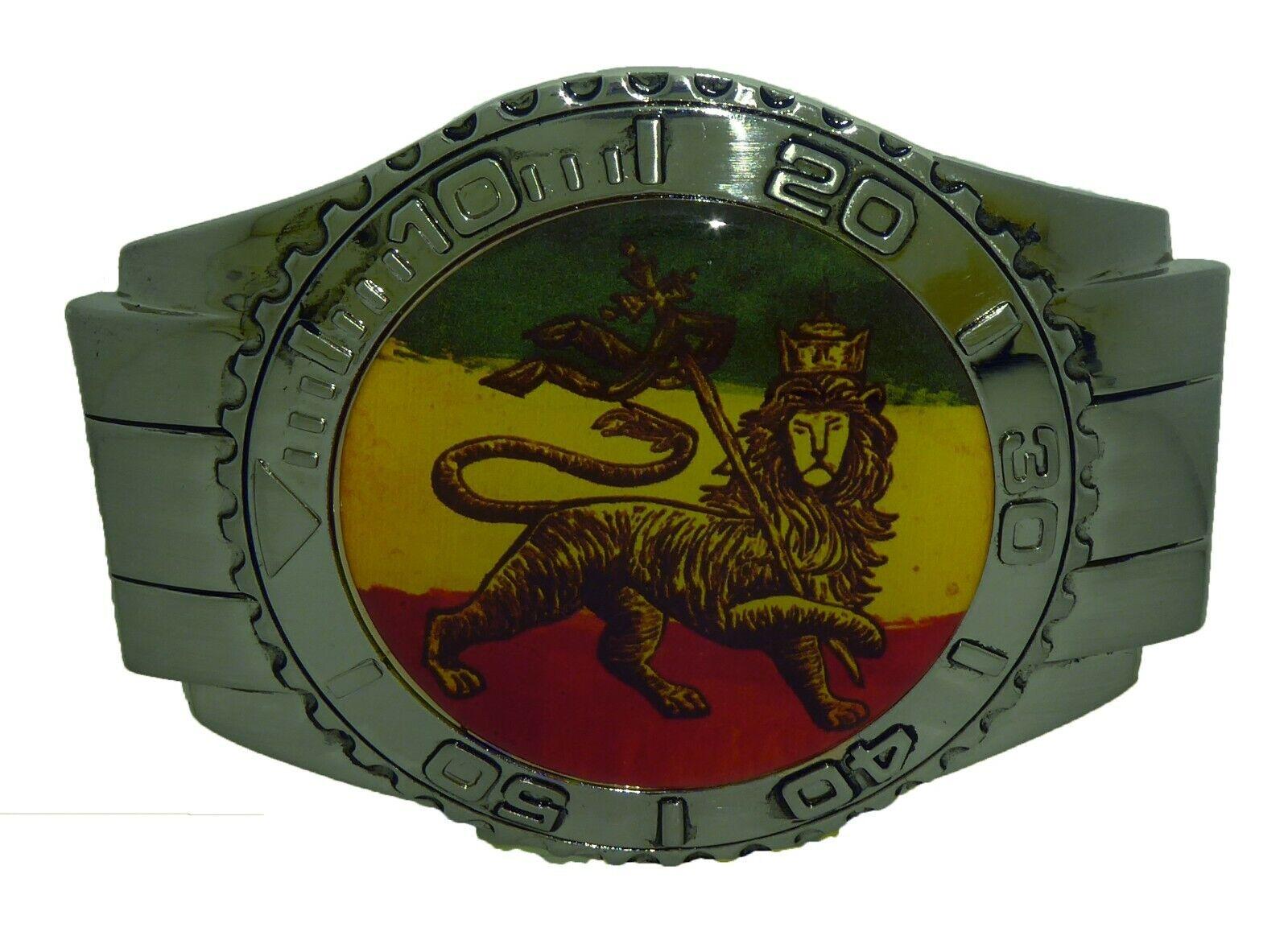 Rastafarian belt buckle Weed Cannabis Selassie Marley Jamaica Roots Gangsta Dub