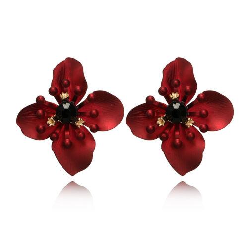 Bohemia Big Flowers Earrings Women Charm  Ear Stud Earrings Jewelry Gift new