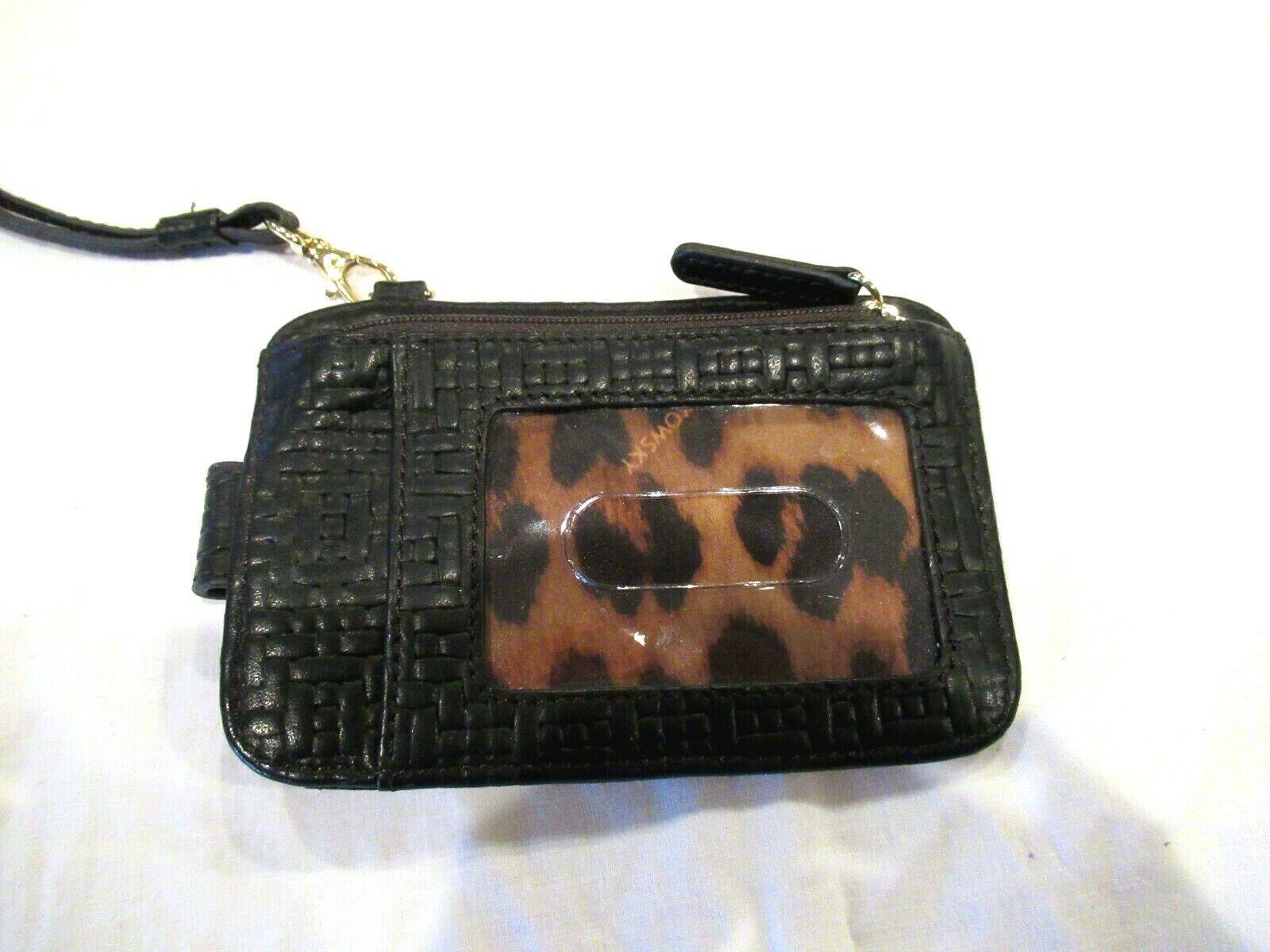 B. Makowsky black ID case wristlet wallet