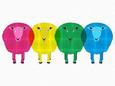 SHEEP TARTAN SCOTLAND POP ART 18X24 '' POSTER ART PRINT BDAY GIFT LF198