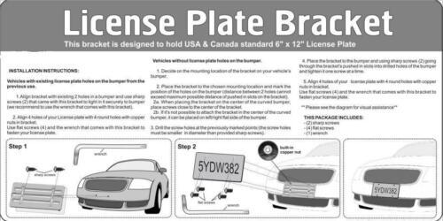 Bumper License Plate Mount Bracket Chrome Screw Caps for CHEVY CHROME Frame