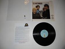U2 October 1981 2nd Island 7-90092-1 EXC Analog Press in shrink ULTRASONIC CLEAN