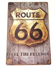 Signo de pared de metal retro Tin Placa Vintage Shabby Chic Garaje Ruta 66 EE. UU. nos coche