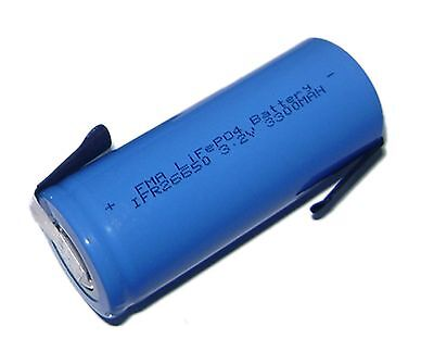 26650 3.3V 3300mAh LiFePO4 Li-Fe Battery for e-Bike Tria TRH25 Laser Light US