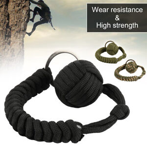 Image is loading 1Pcs-Monkey-Fist-Keychain-Paracord-Self-Defense-Military- a8dd15597