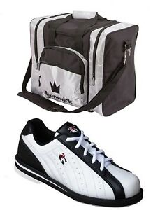 Mens 900 Global 3G KICKS Bowling Shoes BLACK//Silver Size 12 /& Storm Keychain